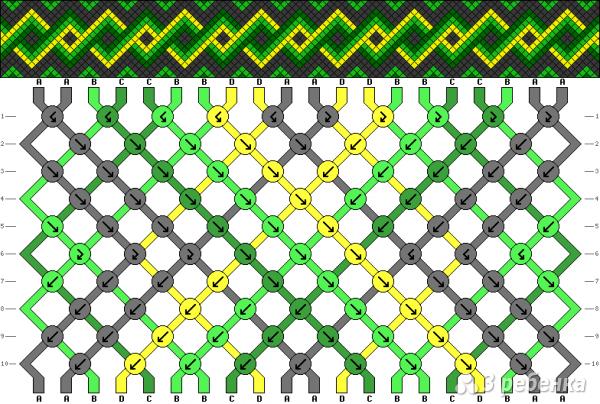 Схема фенечки 4816