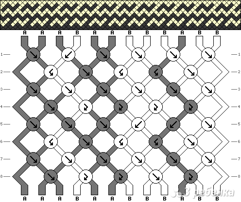 Схема фенечки 4797