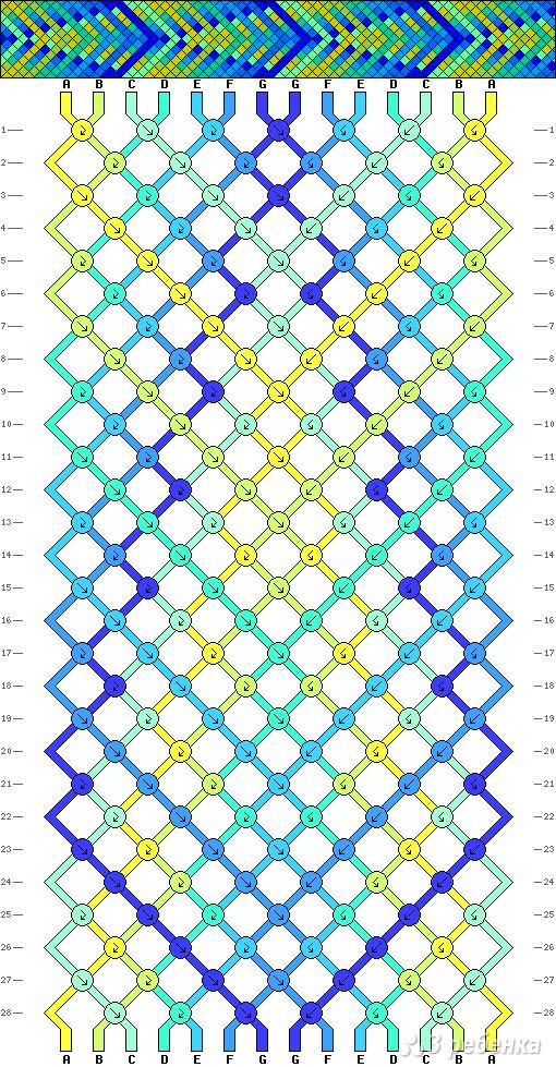 Схема фенечки 4714