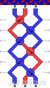 Схема фенечки 4846