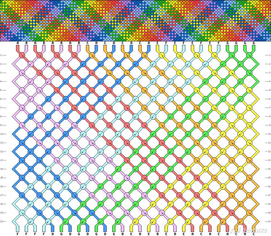 Схемы косого плетения