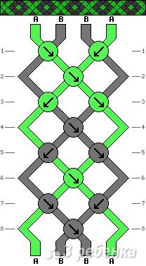 Схема фенечки 4921
