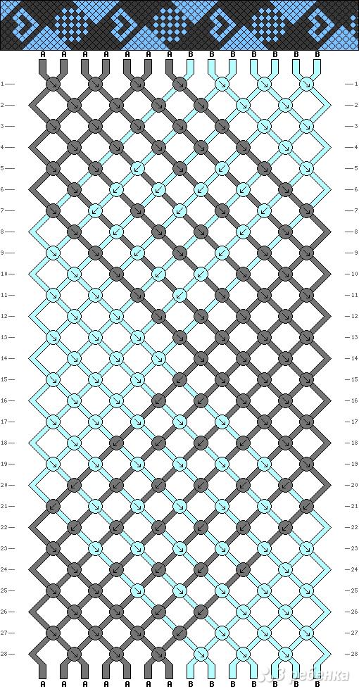 Схема фенечки 4937