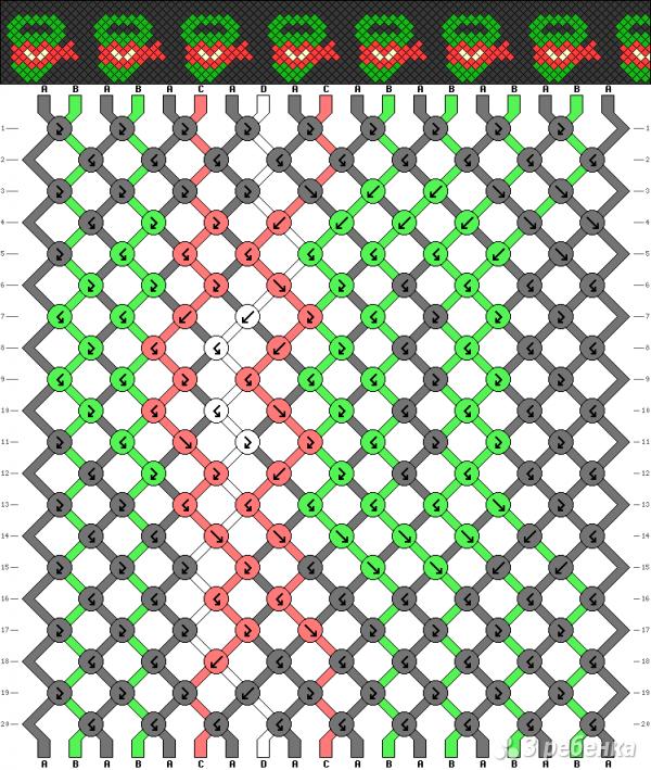 Схема фенечки 4929