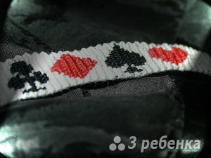 Схема фенечки прямым плетением 6180
