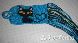 Схема фенечки прямым плетением 5994