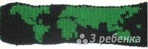Схема фенечки прямым плетением 6257