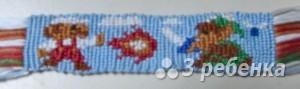 Схема фенечки прямым плетением 6295