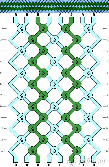 Схема фенечки 5356