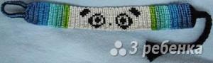 Схема фенечки прямым плетением 6217