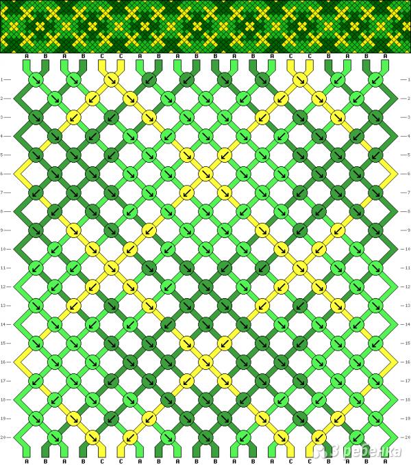 Схема фенечки 5344