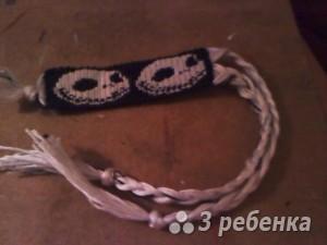 Схема фенечки прямым плетением 5900