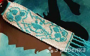 Схема фенечки прямым плетением 5919