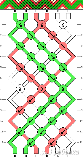 Схема фенечки 5204