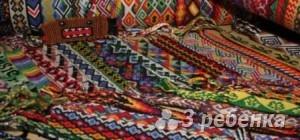 Схема фенечки прямым плетением 6079