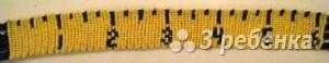 Схема фенечки прямым плетением 6348