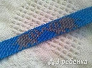 Схема фенечки прямым плетением 5713