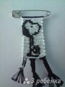Схема фенечки прямым плетением 6106