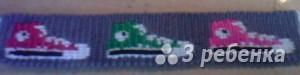 Схема фенечки прямым плетением 6458
