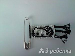 Схема фенечки прямым плетением 6339