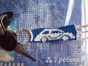 Схема фенечки прямым плетением 6509