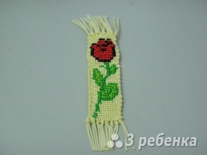 Схема фенечки прямым плетением 6162