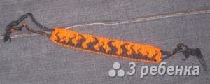 Схема фенечки прямым плетением 6061