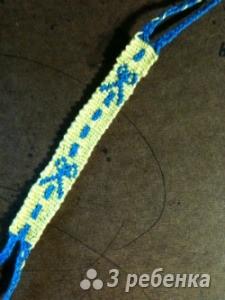 Схема фенечки прямым плетением 6150