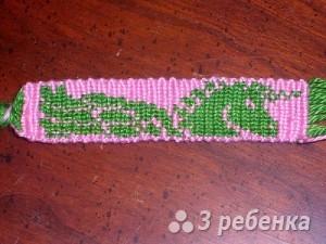 Схема фенечки прямым плетением 6248