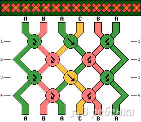 Схема фенечки 5074