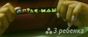 Схема фенечки прямым плетением 5695