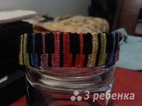 Схема фенечки прямым плетением 5767