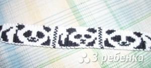 Схема фенечки прямым плетением 6024