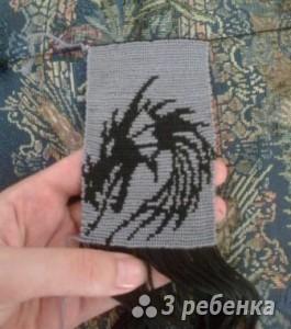 Схема фенечки прямым плетением 6531
