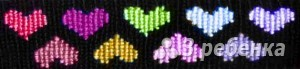 Схема фенечки прямым плетением 6124