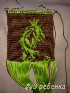 Схема фенечки прямым плетением 6404