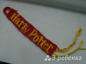 Схема фенечки прямым плетением 5750