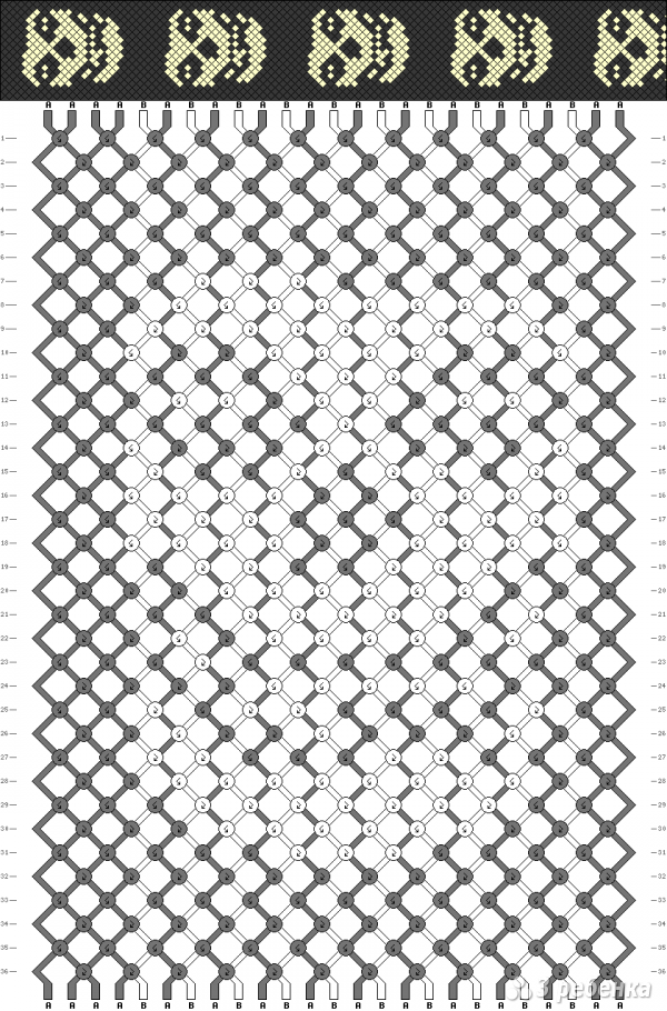 Схема фенечки 5088