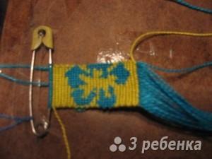 Схема фенечки прямым плетением 5630