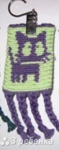 Схема фенечки прямым плетением 5863