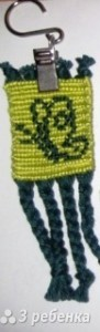Схема фенечки прямым плетением 6594