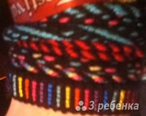 Схема фенечки прямым плетением 6115
