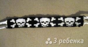 Схема фенечки прямым плетением 6413