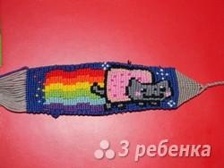 Схема фенечки прямым плетением 6580