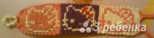 Схема фенечки прямым плетением 5532