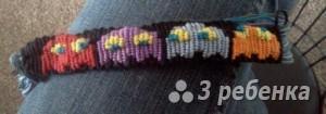Схема фенечки прямым плетением 5568