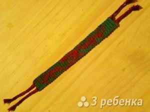Схема фенечки прямым плетением 5664