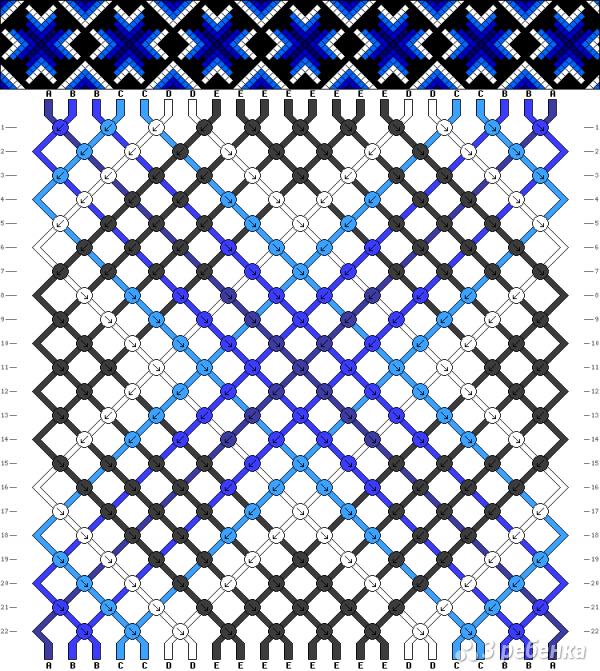 Схема фенечки 5245