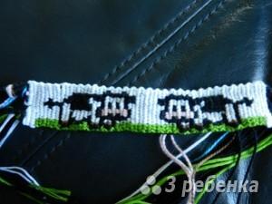 Схема фенечки прямым плетением 6004