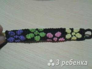 Схема фенечки прямым плетением 5488